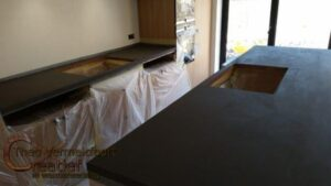 Keuken blad en tafelblad in Beton Cirë