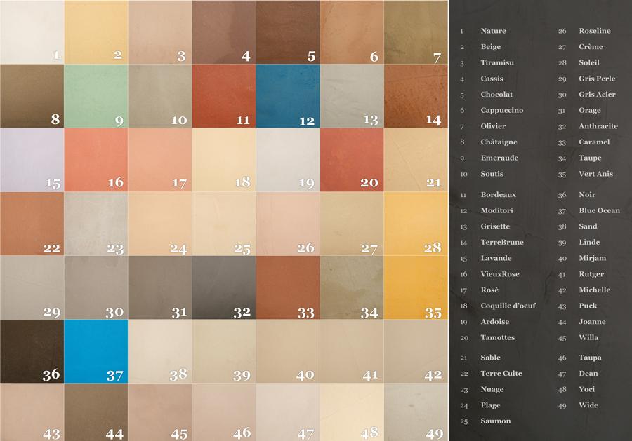 kleuren betoncire info