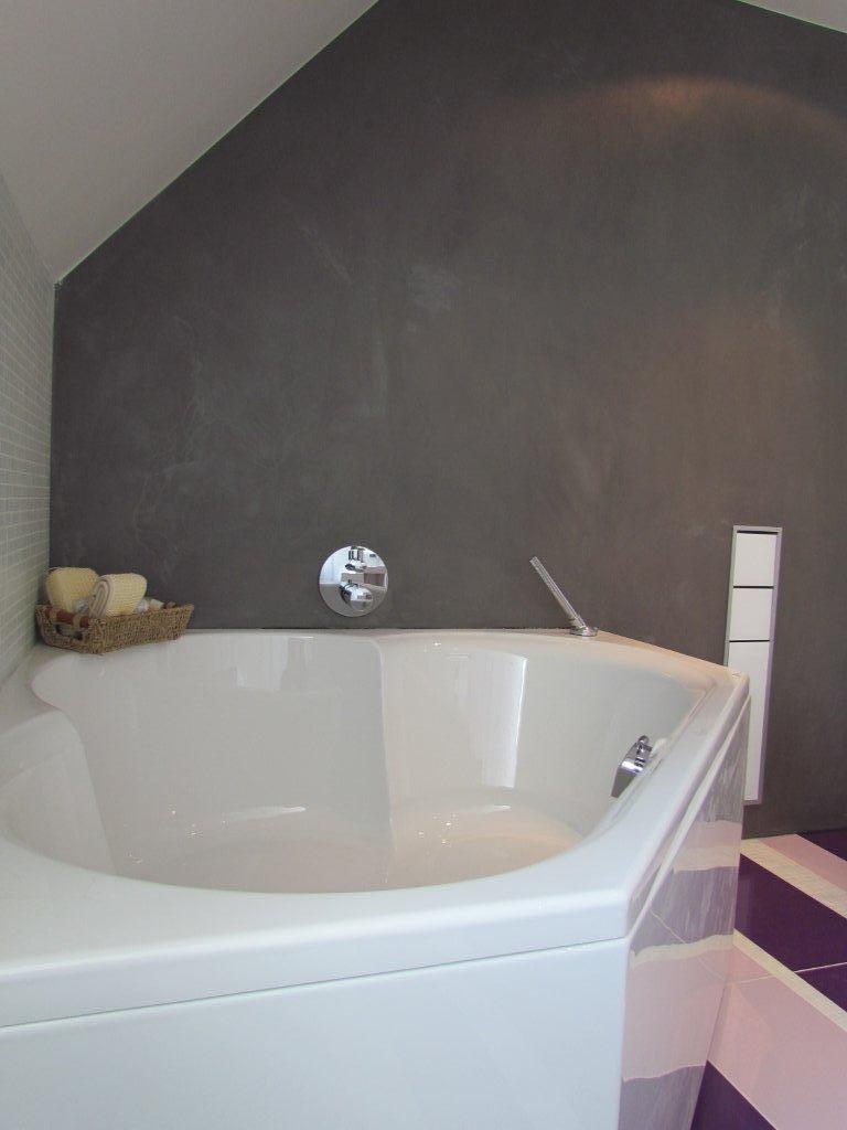 hoek badkuip met achterwand